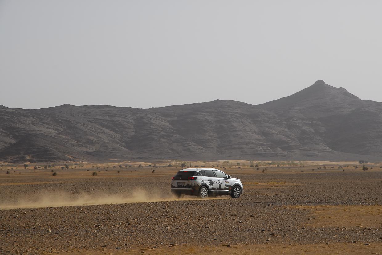 Mauritânia as primeiras montanhas do maciço do Adrar