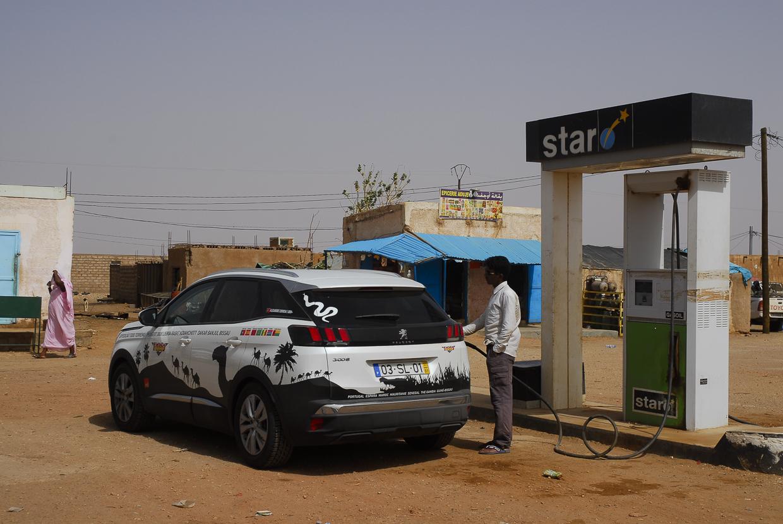 Mauritânia posto abastecimento em Akjoujt