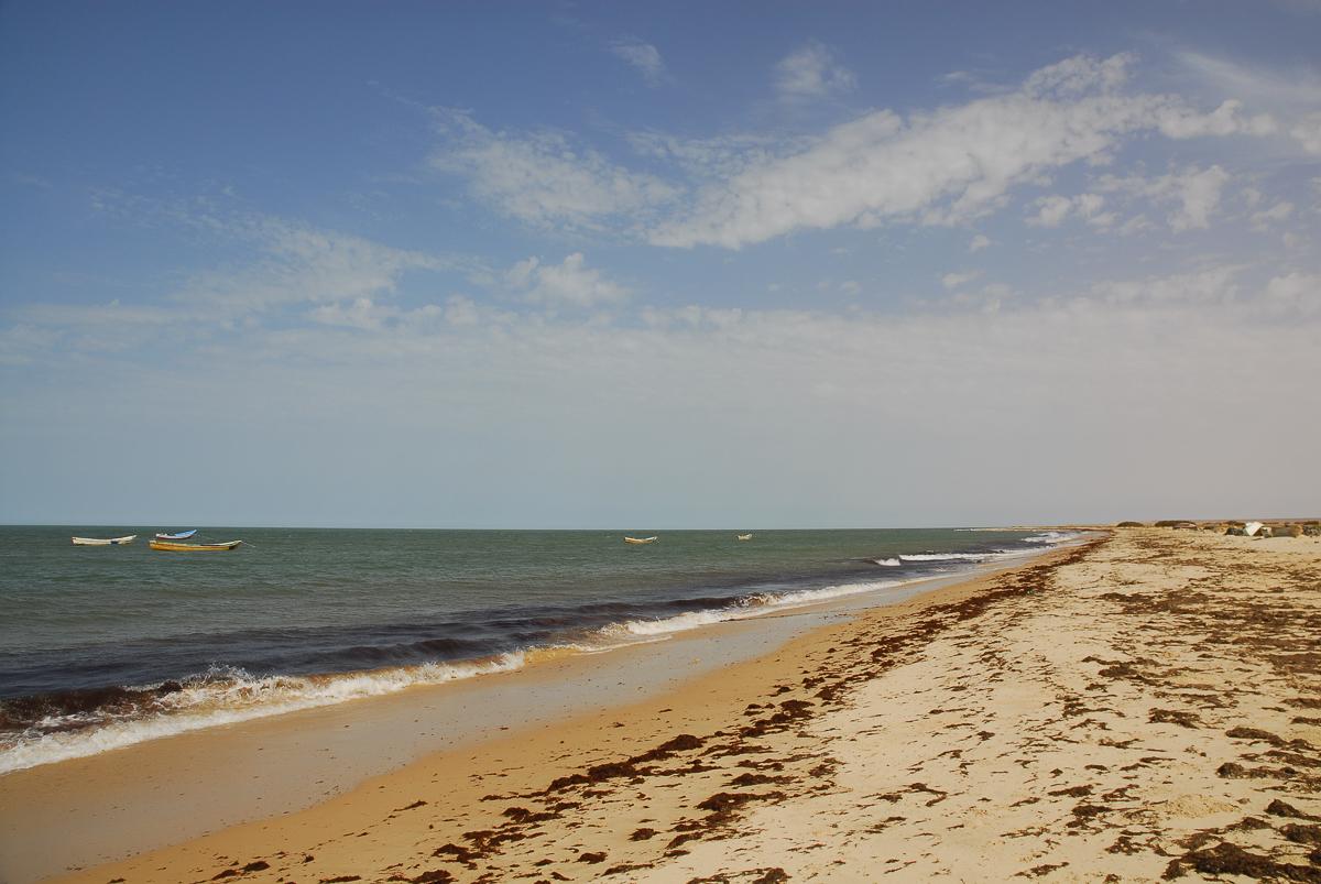 Mauritânia - a praia a caminho do Banc D'Arguin