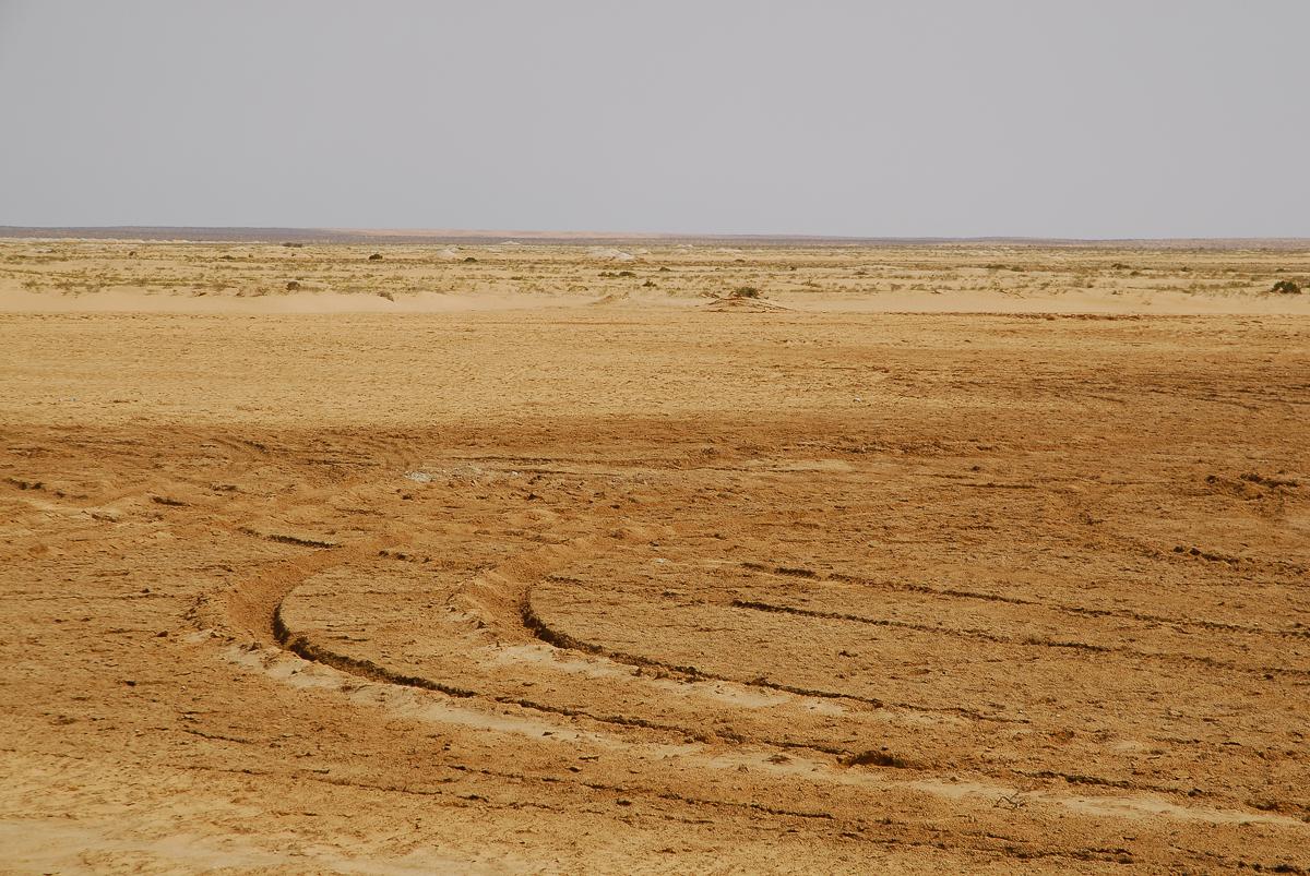 Mauritânia - Um chott no deserto