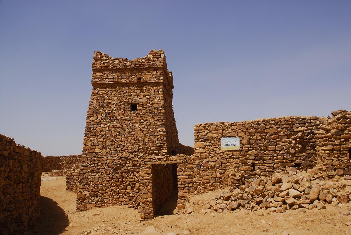 Mauritânia a antiga mesquita da cidadela de Ouadane