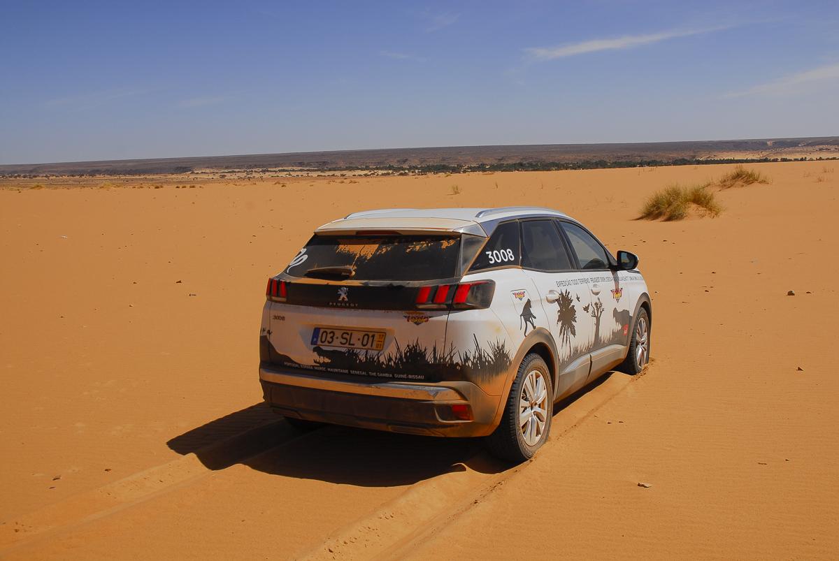 Mauritânia areia mole em Ouadane