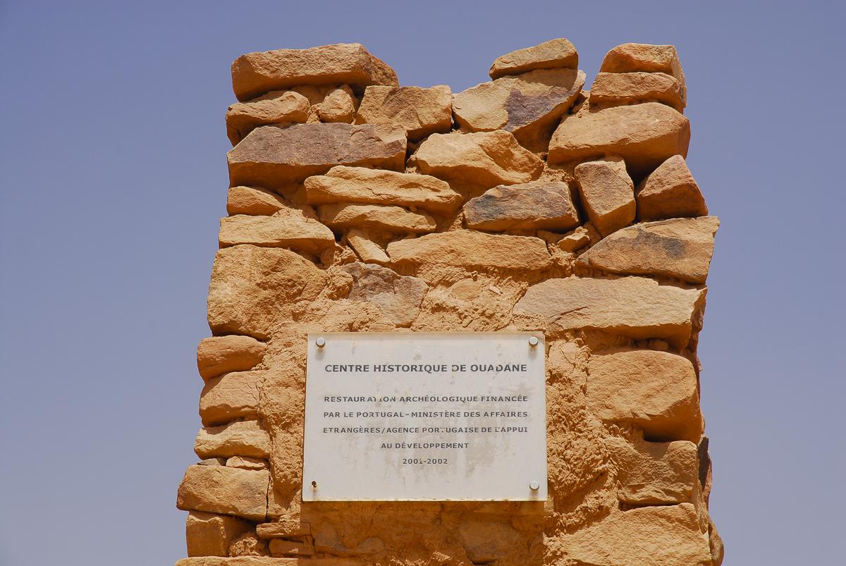 Mauritania placa portuguesa na entrada de Ouadane
